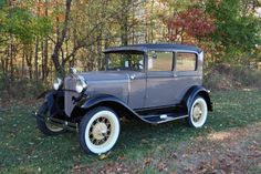 1930 Ford Model A Chickle/Copra Drab Model A 4 door Town Car