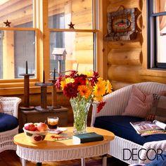 Arquitetura em estilo rústico em harmonia com o mobiliário clean