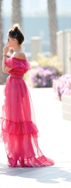 Gauzy pink on Miroslava.