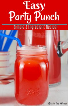 alcohol punch recipes This Easy Party Punch is my go- to drink for every family get together and holiday. Everyone loves it and it is so simple with just 3 ingredients! Non Alcoholic Punch, Easy Alcoholic Drinks, Party Drinks Alcohol, Drinks Alcohol Recipes, Drink Recipes, Cranberry Punch Recipes Non Alcoholic, Easy Rum Drinks, Easy Mixed Drinks, Fruity Drinks