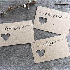 Mariage fourche cartons cartes de mariage Place par LaPommeEtLaPipe