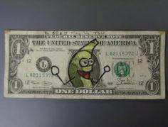 money, dollar, bill, art, banana