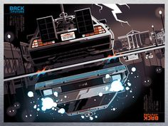 Tom Whalen Back to the Future (Metal Variant) – Mondo