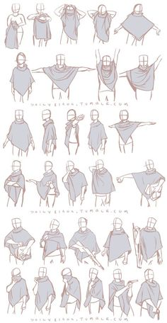 dailyriana: I finally managed to acquire a poncho in the style of the ones my characters in my comic wear and these are the first in a series of studies of it I'm making. Ponchos are very unusual and it's wonderful that I no longer have to guess how they look if I'm caught with a strange pose.: