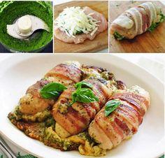 Pečené kuracie závitky s pestom a slaninkou, po ktorých sa len tak zapráši - chillin.sk