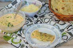 Tacos de gambas con salsa de pimientos
