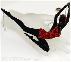 Erstwilder Necklace Deco Lady Diving Dorothy Black Red
