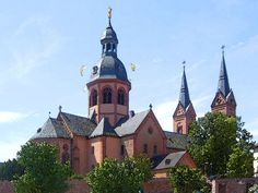 'Einhard-Basilika u. Benediktinerabtei Seligenstadt' von Dirk h. Wendt bei artflakes.com als Poster oder Kunstdruck $18.03