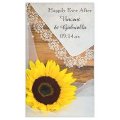 Sunflower and Lace Country Wedding Banner