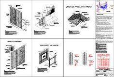 Detalles de panel w marca panel w en AutoCAD Panel W, 3d Panels, Autocad, Architecture Details, Building, Image, Cad Blocks, Walls, Buildings