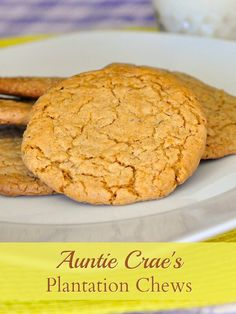 Auntie Crae's Plantation Chews - These flourless cookies look quite innocent but they are anything but! Crunchy and chewy at the same time with an irresistible caramel flavour. It is impossible to eat just one. Use gluten free corn flakes and you have a cookie that everyone can love.