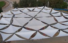 membrane-cable tensile structure (for roofing) FLAT SHADE Fabric Architecture