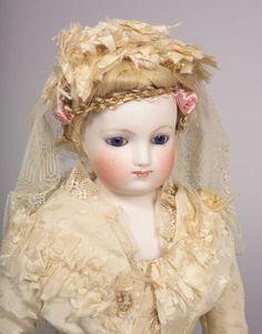 french dolls | 2708: Early Barrois French Fashion Doll, Paris, c. 1860