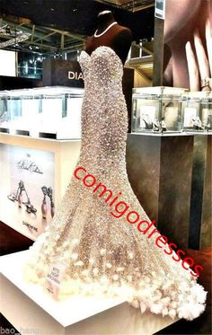 Crystal Dress A-0340 Sweetheart Beads Shinny Mermaid Evening Dress Robe De Soiree Luxury prom dresses