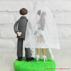Sensual Funny theme custom wedding cake topper gift by annacrafts, $190.00
