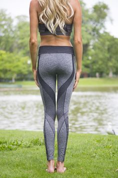 Accelerate your style in these shapely compression leggings! Flattering piece work, extraordinary comfort and exceptional quality make these an Empire staple.