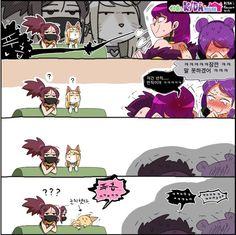 (LOL) K/DA 만화 > 만화방 | 뀨잉넷 - 온세상 모든 웹코믹이 모이는 곳 I Love Anime, League Of Legends, Peanuts Comics, Manga, Yuri, Random Stuff, Meme, Twitter, Random Things
