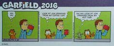 Garfield 2016 coffee cup? Hot tub??  Oh my!