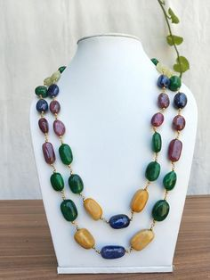 Jewelry Shop, Jewelry Making, Necklace Lengths, Beaded Necklace, Multi Coloured Necklaces, Indian Jewelry, Unique Jewelry, Natural Ruby, Gemstone Beads