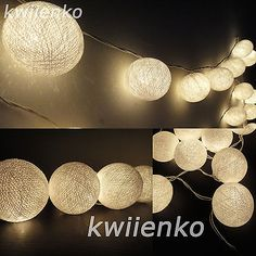 35 #white lantern cotton balls fairy string lights #party #patio bedroom wedding,  View more on the LINK: http://www.zeppy.io/product/gb/2/310900813031/
