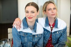 Gillian Jacobs and Erin Foster celebrating the Maje Denim capsule collection at the Chateau Marmont in Los Angeles.