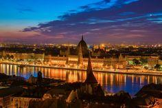 The Budapest Blue Hour :: photo by Riccsi (Richárd Sárközi) Blue Hour, Budapest, New York Skyline, Photos, Travel, Pictures, Voyage, Trips, Viajes