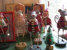 Vintage Christmas mixed with Lori MItchell figures