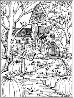 spring scene coloring pages - photo#41