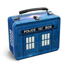 Tardis lunch box - just imagine how much lunch you could fit in here!   $16.99 from ThinkGeek