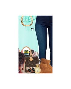 """""""Outfit #362 (Mint Green)"""" by whatevas ❤ liked on Polyvore featuring Victoria's Secret PINK, BLANKNYC, UGG Australia and Michael Kors"""