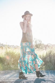 Combine with #DivoJewelry at www.DivoJewelry.com #Boho Jagger Maxi Skirt | Spell & The Gypsy Collective