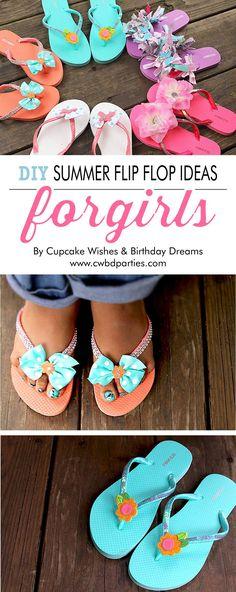 DIY Summer Flip Flop Ideas for Girls