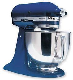 Oh boy. A blue kitchen aid mix master. On my list.