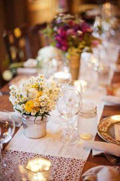 centre de table mariage avec fleurs