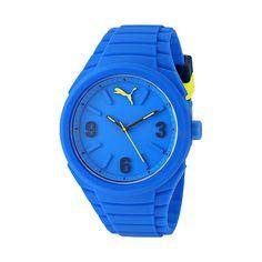 PUMA Reloj para hombre Azul-Amarillo