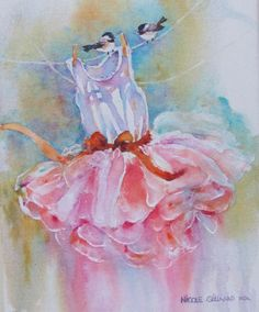 great for a little girls room ....(or a little girl at heart).....watercolor