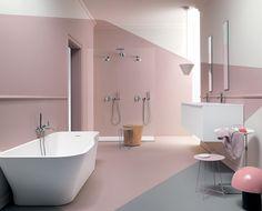 Zucchetti ON tapware paired with Kos Faraway Freestanding Bath and Morphing Vanity.