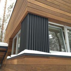 New home renovation exterior building Ideas Wood Cladding Exterior, House Cladding, Timber Cladding, House Siding, Facade House, Facade Design, Architecture Design, House Design, Casas Containers