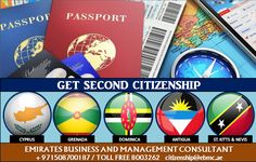 Travel to more that 100 countries without any visa Get your second passport in just 4 months No IELTS, No Age Criteria and No Education requirement Get your dual nationality in no time, contact us for details