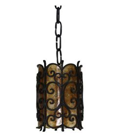 Hand made Iron Pendant Light with Mica by Hacienda Lights and Iron