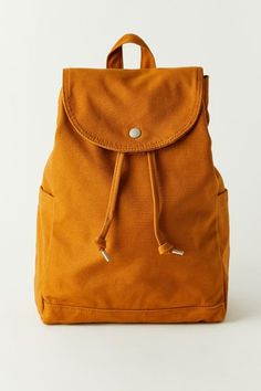 Drawstring Backpack, Mustard, Urban Outfitters, Satchel, Backpacks, Essentials, Laptop, Bags, Exterior