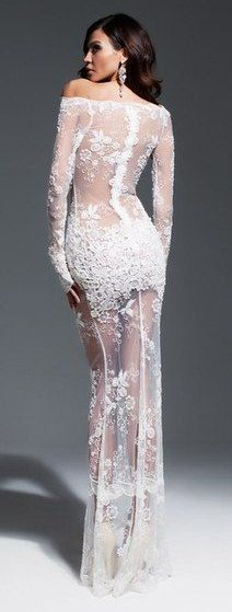 sexy lace prom dress