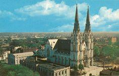 Cathedral of St. John the Baptist  Vintage Travel Postcards: Savannah, Georgia