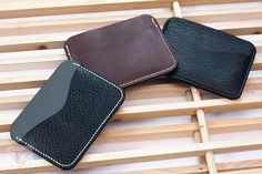 Items similar to Two-Pocket Leather Minimalist Wallet - Personalized Gift for Dad Gift for Mom Leather Groomsmen Gift Leather Mens Wallet Business CardHolder on Etsy Minimalist Wallet, Leather Wallets, Everyday Carry, Groomsman Gifts, Card Holders, Card Wallet, Gifts For Dad, Groomsmen, Continental Wallet