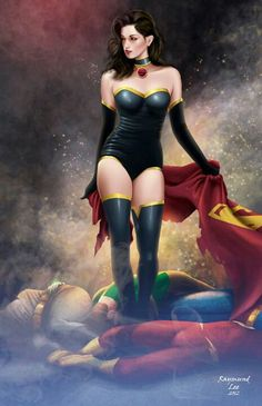 Superwoman (Crime Syndicate) by Raymund Lee #comicstyle #marveldc #comicdrawings