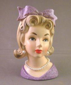 Vintage RELPO HEAD VASE K1696 Japan