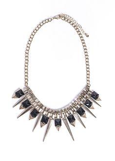 Stylish spiky necklace.