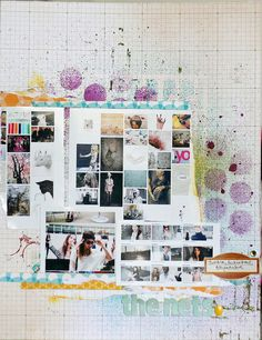 Photo collages + paint