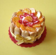 Miniature Food Orange Charlotte by PetitPlat - Stephanie Kilgast, via Flickr