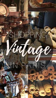 Vintage shopping in Paris, France!